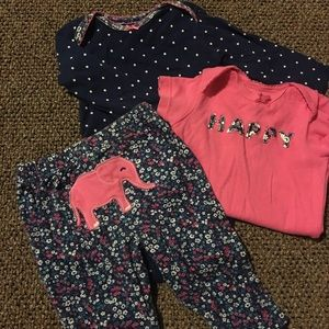 Three piece caters elephant outfit